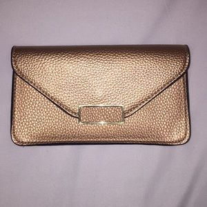Small gold clutch
